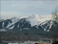 Fabulous View from the Condo of the Fernie Ski Hill