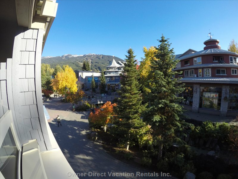 Overlooking Whistler Village from Deck