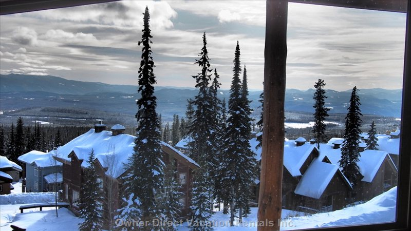 View from the Deck over White Forest Estates Toward Happy Valley and the Monashees