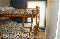 Bedroom - Large Log Bunkbed, North Facing Window, Flat Screen TV and Own Bathroom!