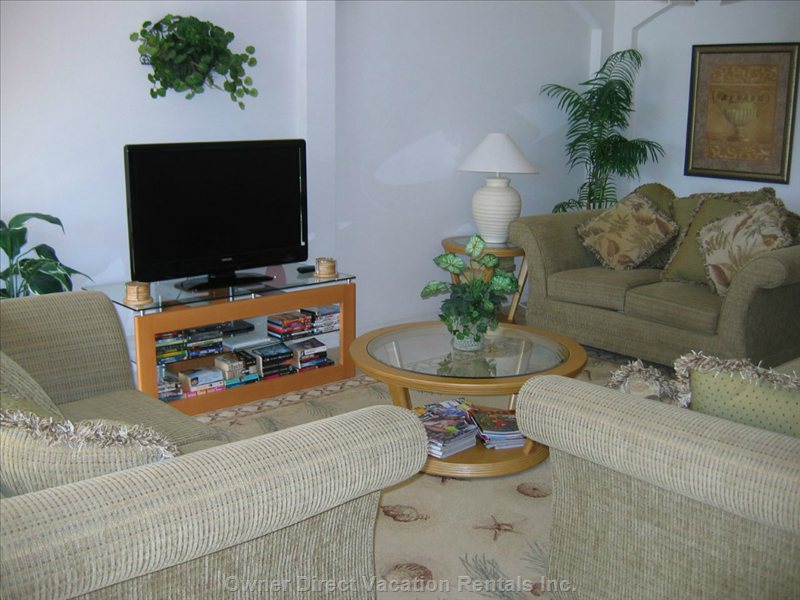 "Living Area with 42"" Plasma TV"