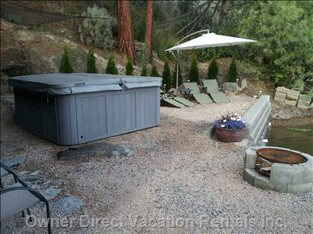 Backyard with Small Firepit