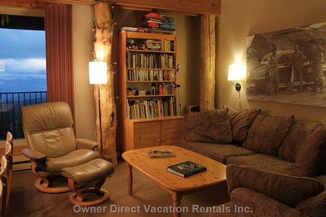 Spacious Great Room Area Includes Wireless Internet, Lots of Board Games, Puzzles, Decks of Cards, and a Varied Selection of Books