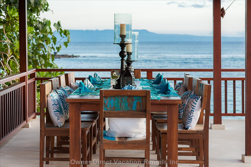Outdoor Dining, Enjoy Beautiful Authentic Meals with Ocean Breeze.