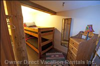 Third Small Bunk-Bed Room on First Floor - Suitable for Children