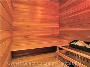 Enjoy the Private Sauna Located in our Suite