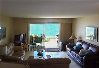 Beach Front Ground Floor 2 Bedroom Condo on Lake Okanagan