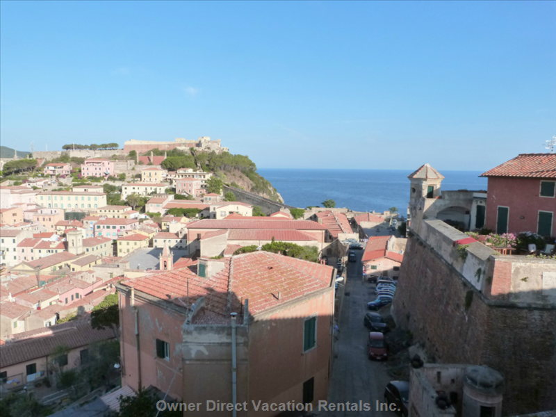 View on the Old Town and the Sea from the Bedrooms