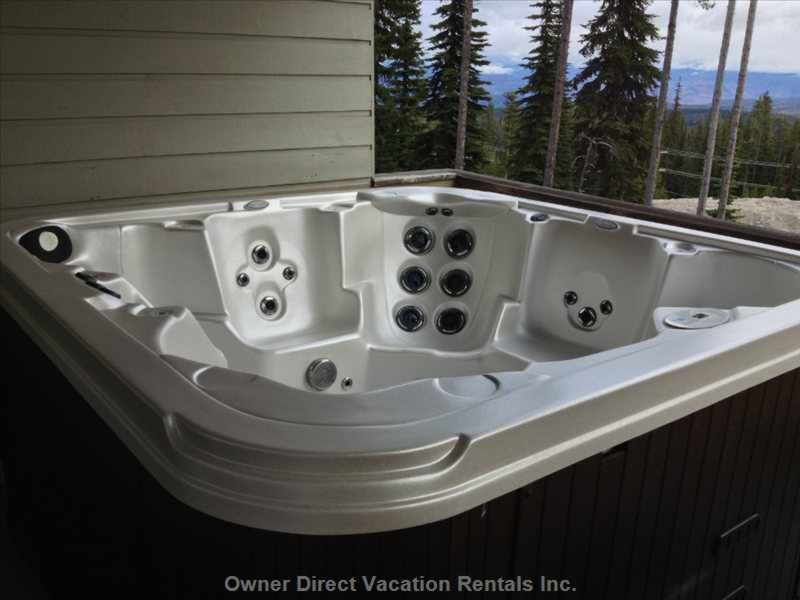 Private Hot Tub on Upper Deck