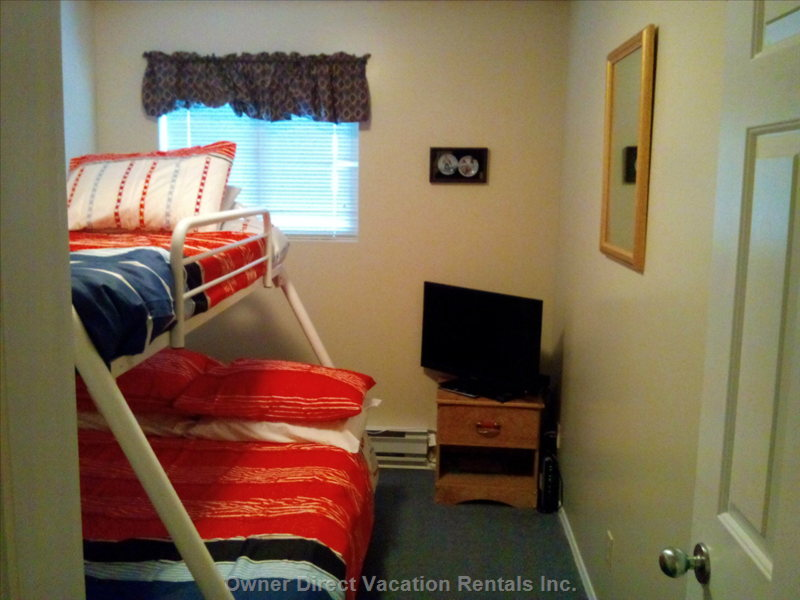 3rd Bedroom with a Single Top Bunk and Double Lower Bunk