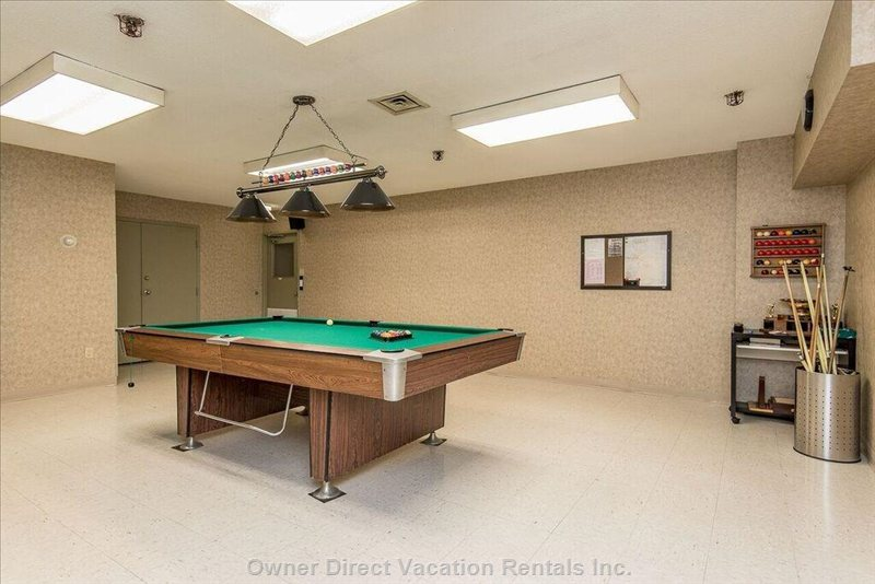 Pool Table At Bottom Of Complex
