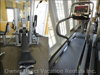 Emerald Island Exercise Room, 3 Blocks from our Home