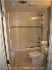 Main Bathroom - a Nice Soaker Tub to Soak Away the Aching Muscles from Skiing, Hiking, Or Biking!