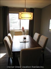 Dining Room - a Beautiful Reclaimed Pine Table Comfortably Seats Six