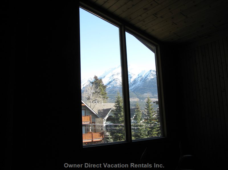 View from Loft - Beautiful View of Rockies from Loft.