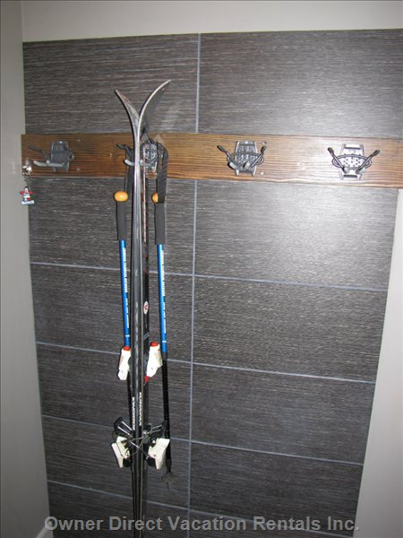 Ski Rack at Front Door