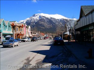 Charming Main St in Canmore - a 5 Minute Walk from the Condo!  Coffee Shops, Restaurants, and many Cute Shops to Poke around In.