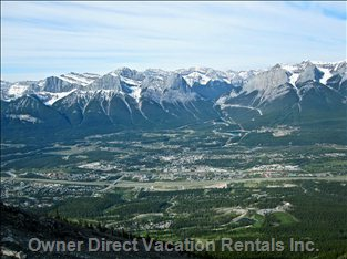 Canmore from Lady Macdonald Teahouse - a Gorgeous View of Canmore from the Lady Macdonald Teahouse!