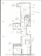Apartment Layout, with 2 Separate Rooms, a Living/Dining Room with Balcony, Kitchen, Bathroom and Washer/Dryer Room.