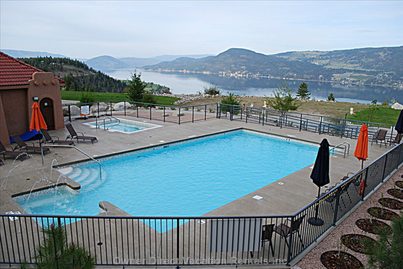 Upper Amenities Area - Pool & Hot Tub