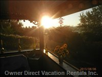 Enjoy the Sunrise from the Porch with your Morning Coffee