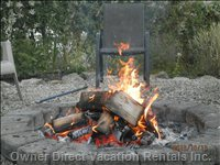 Sit by the Outdoor Firepit in the Evenings Pending Banning Permits in Effect.