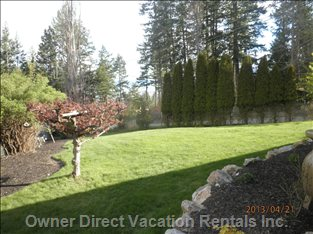 Lawn Area has Ample Room to Sunbath, Play Lawn Games Or Star Gazing at Night.