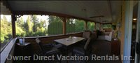 50 Ft Screened Porch has Great Eating Area