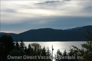 Lake Okanagan View from Property.