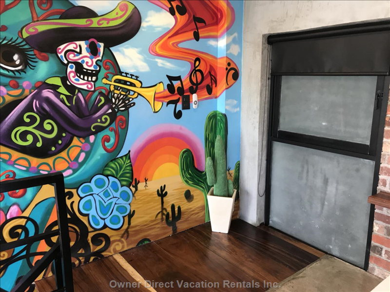Custom Mural from a Local Artist, Misael Lopez.
