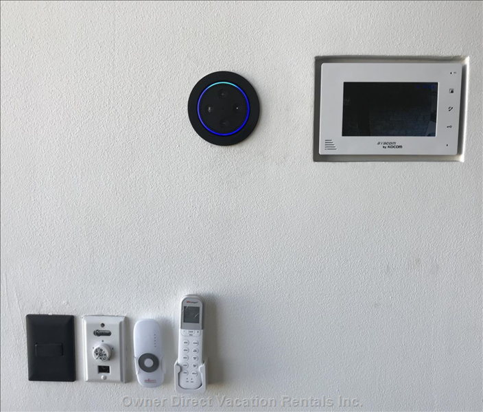 Amazon Alexa, Video Doorbell, Electric Black-out Blinds