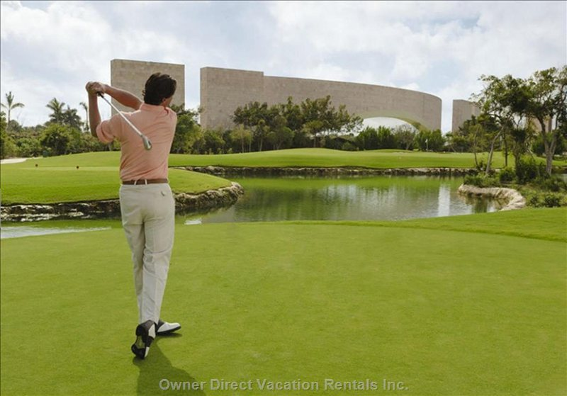 Property is Surrounded by the Award Winning Rivera Maya Golf