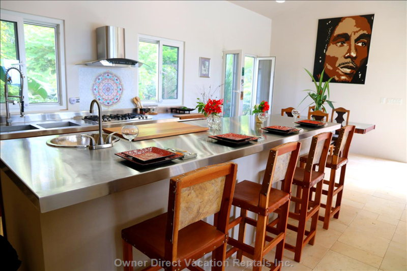 Stainless Steel Countertops and Private Chef If you Desire.