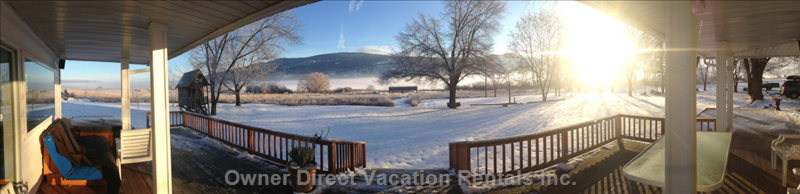 Winter View from the  Back Deck