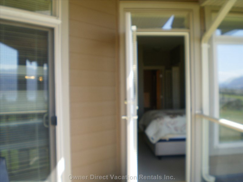 Balcony Door off Master Bedroom.