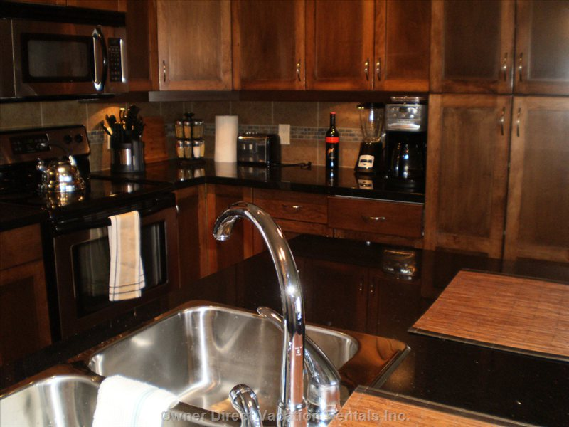 Kitchen Comes with most Necessities. and Stainless Steel Appliances.