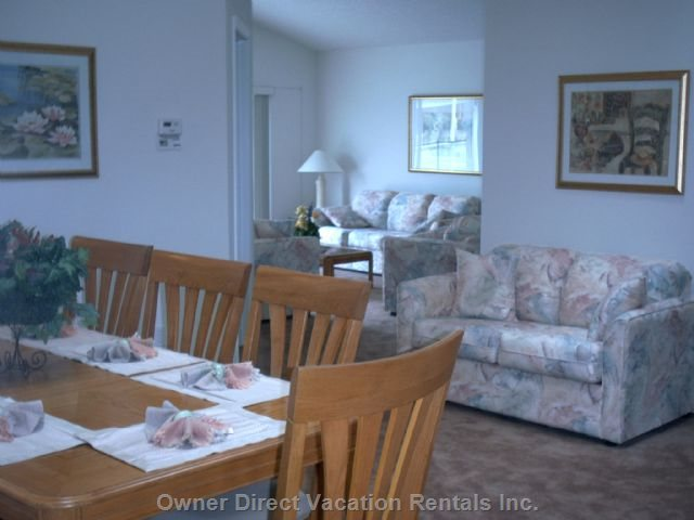 The Dining Area and a Small Capture of the Family Room