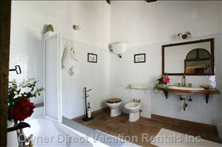 The Large Bathroom with Tub and Shower