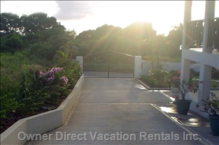 Sunshine Floods into the Breezeway Lower Deck to Wake you Gently for another Day in Paradise!