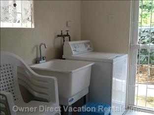 Enjoy the Breezy, Tidy, Laundry Area