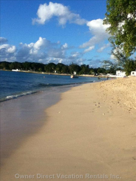 The Beach at Holetown, Where you Can Also Enjoy Shopping and Dining