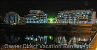 View of the Resort from across the Inner Harbour at Night