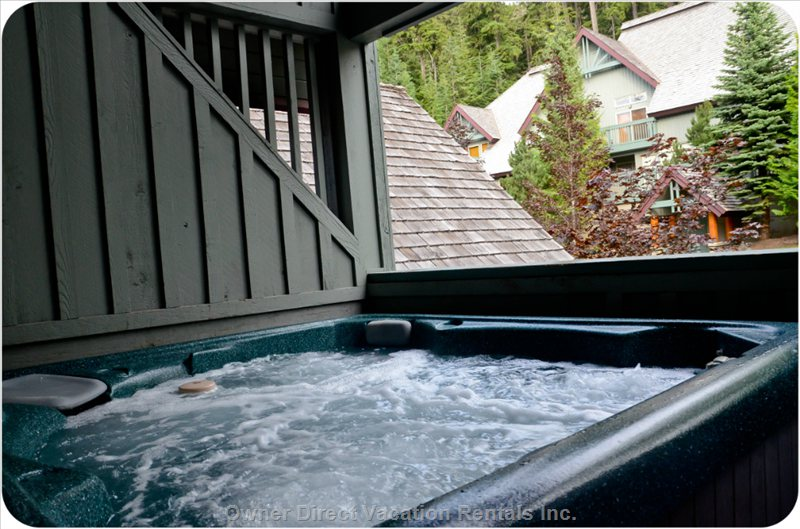 Hot Tub on Upstairs Patio