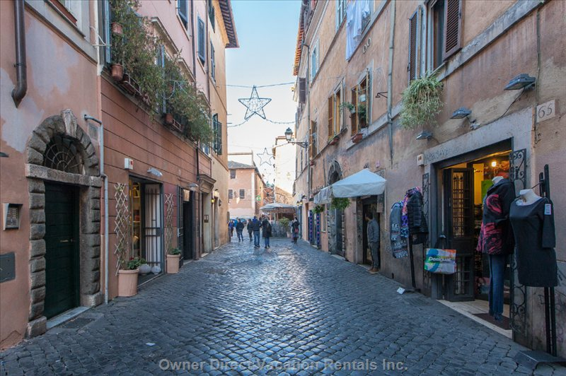 Via Della Scala - via Della Scala in the Heart of Trastevere Area of Rome Famous for its Nightlife.
