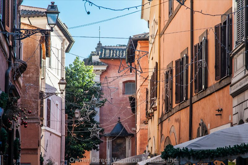 Via Della Scala in the Heart of Trastevere Area of Rome Famous for its Nightlife.