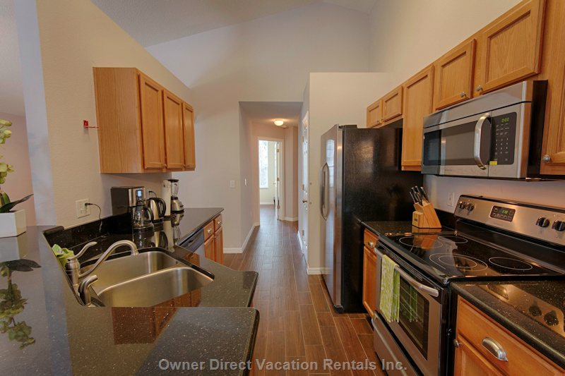 Fully Equipped Kitchen with Granite Countertop, Coffee Maker, Blinder Etc.