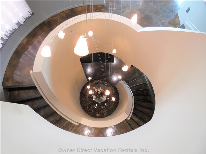 "Amazing Spiral Staircase, from Bottom to Top (Or, ""Bottom's up, I Guess)."