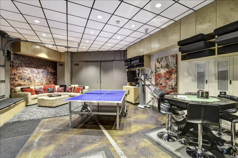 The Rec Room is Fully Finished/Heated, with Tv, Xm Stereo, Nintendo, Ping Pong, Fitness Equipment, Bumper Pool, Poker, and More.