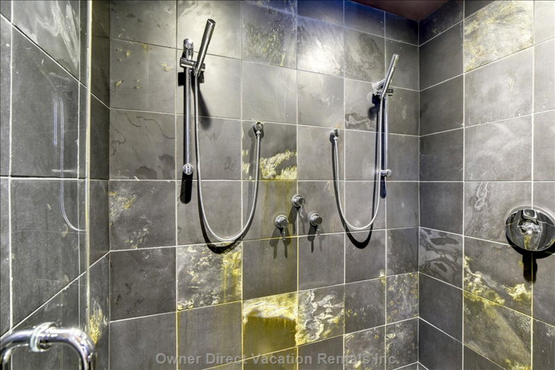 The Two-Person Shower, in Fact, is the Largest of our Five Showers.  Party on!