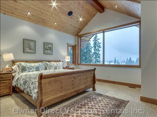 Magnificent mountain view from the master bedroom
